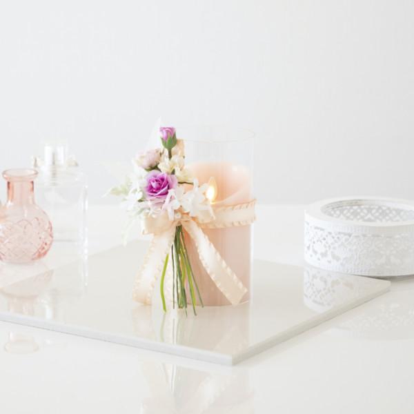 可愛い花束をデコレーションした+FLOWER作品